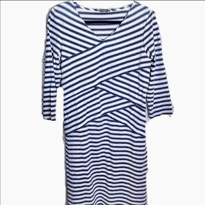 J. McLaughlin Navy Striped Catalina Cloth Dress